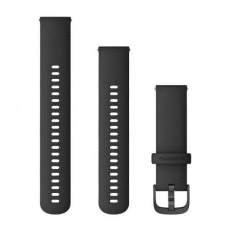 Garmin Vívoactive 4 óraszíj fekete palaszürke csattal 22mm