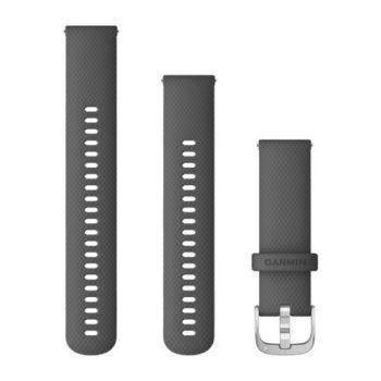 Garmin Vívoactive 4 óraszíj szürke ezüst csattal 22mm