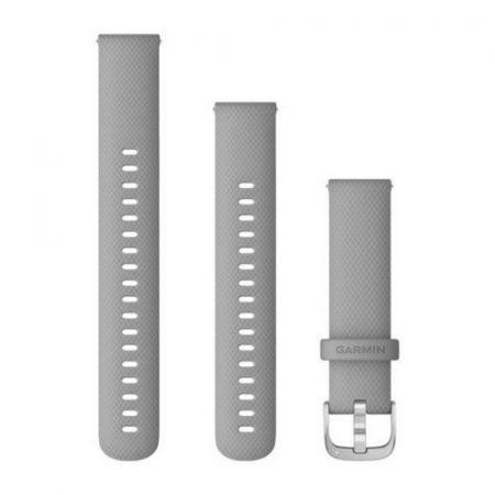 Garmin Vívoactive 4S óraszíj púderszürke ezüst csattal 18mm