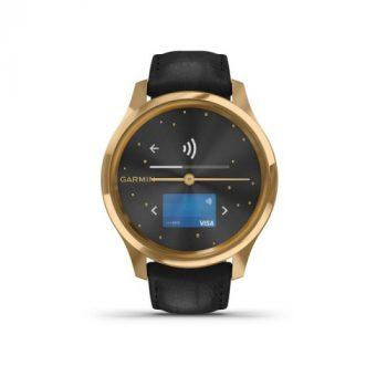 Garmin Vívomove Luxe Gold/Fekete bőr 24K