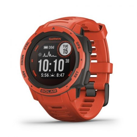 Garmin Instinct Solar Flame Red GPS-es sport- és okosóra